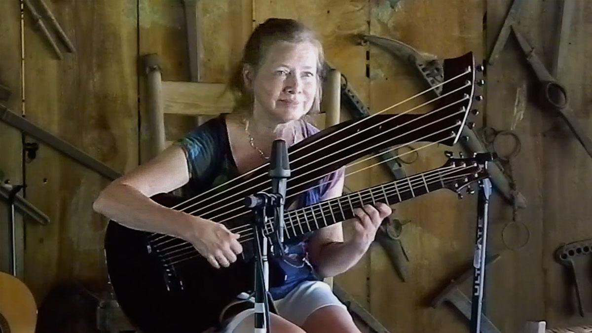 muriel anderson Emerald Harp guitar
